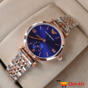 Emporio Armani AR-1840 Ladies Watch Blue & Gold