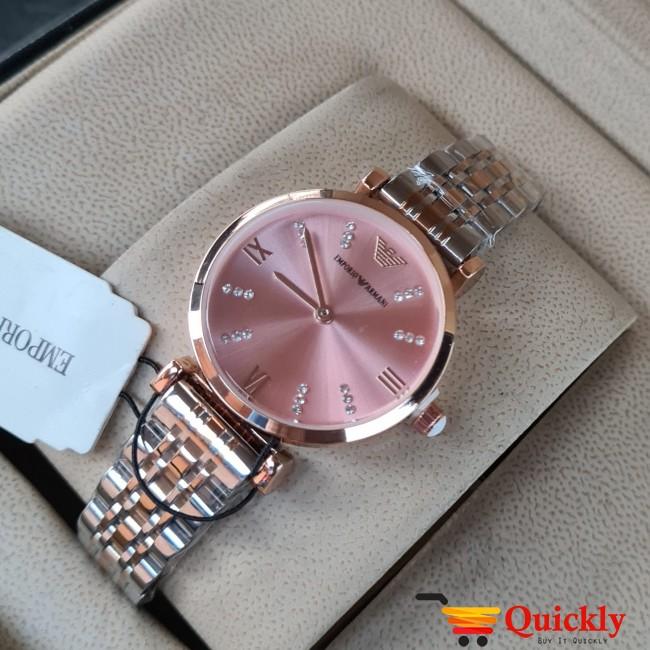 Emporio Armani AR-1840 Ladies Watch Pink & Gold