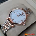 Emporio Armani AR-1840 Ladies Watch Stylish White & Gold