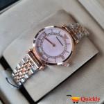 Emporio Armani AR-1840 Ladies Watch Stylish Pink & Gold