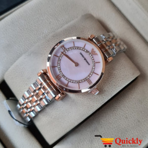 Emporio Armani AR-1840 Ladies Watch Stylish Pink & Gold