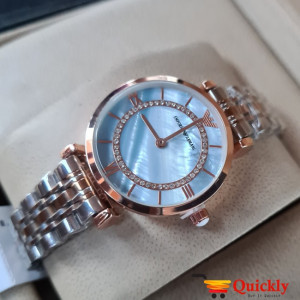 Emporio Armani AR-1840 Ladies Watch Sky Blue & Gold