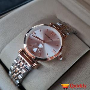 Emporio Armani AR-1840 Ladies Watch Silver & Gold