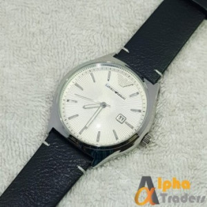 Emporio Armani Wrist Watch Leather Strap With Date