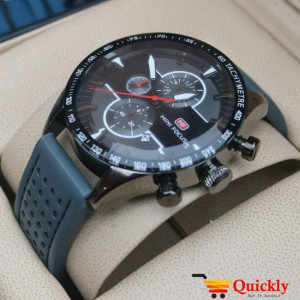 Mini Focus MF0002G is a Men Leather Chronograph Watch