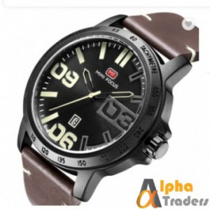 Mini Focus MF0169 Men Leather Analog Watch With Brown Band