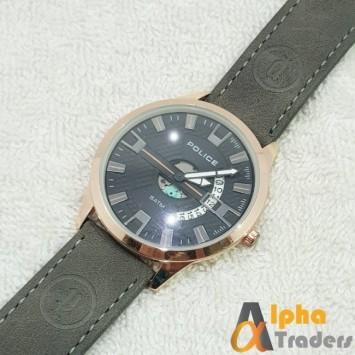 Police 6007 Watch Leather Strap Stylish Watch