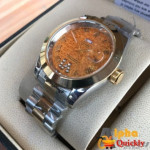 Rolex Oyster Perpetual Date Just Chain Analog Watch With Golden Chain Amazing