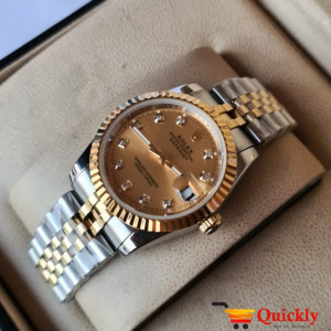 Rolex Automatic Watch Chain Strap With Date Wrist Watch