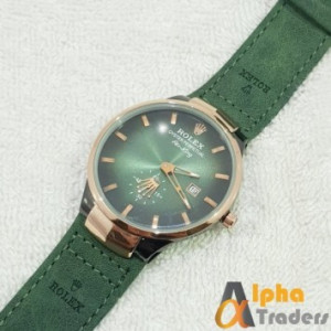 Rolex Air King Leather Strap With Date & Down Second