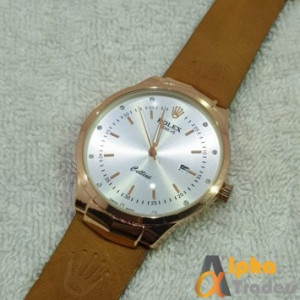 Rolex Geneve Leather Strap AT-5
