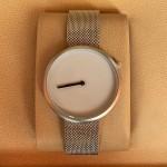 Tomi T078 Men Chaffer Chain Strap Watch Silver & White Dial