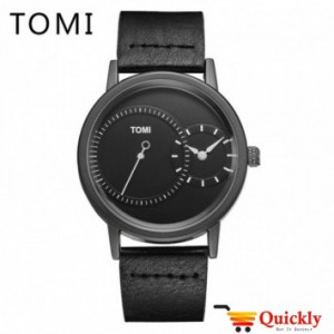 Tomi T087 Men Leather Watch With Black Strip Leather