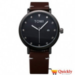 Tomi T074 Men Leather Watch Brown Strip