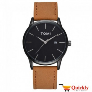 Tomi T071 Men Leather Watch With Amazing Leather