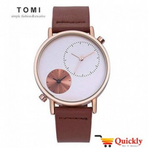 Tomi T079 Men Leather Watch With Beautiful Dial