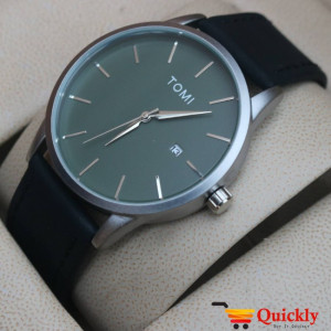 Tomi T071 Men Leather Watch  With Green Beautiful Dial
