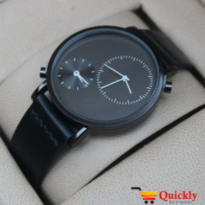 Tomi T079 Men Leather Watch Full Black and Beautiful Dial
