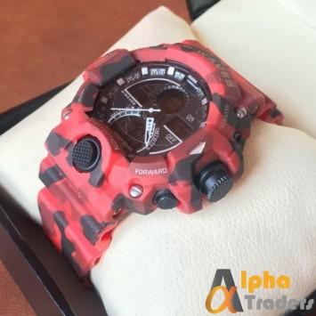 S.Waves Men Rubber Analog Digital Watch