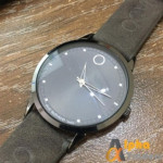 Movado 2398 Leather Strap Watch