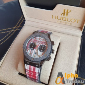 Hublot 882888 Men Leather Analog Watch with Multiple Colour Band