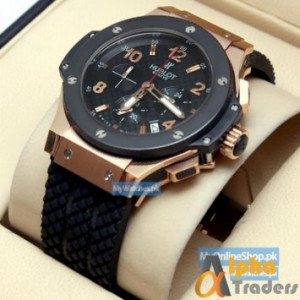 Hublot Tuiga 1909 Men Analog Watch With Black Band