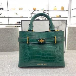 Charles & Keith CK2-30781195 Original Ladies Hand Bag Green Color