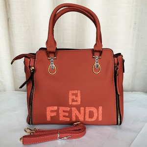 Fendi Ladies Hand Bag With Leather Stripe Pink Color QB00280