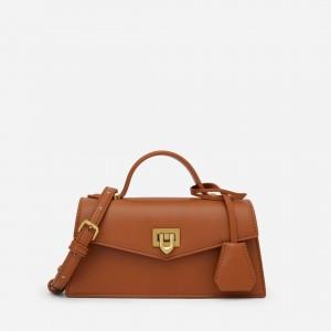 Charles & Keith CK2-50270656-1 Original Ladies Hand Bag Brown Color