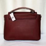 Calvin Klein Ladies Hand Bag 4 Piece With Leather Stripe Purple Color QB00283