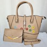 Guess Ladies Hand Bag 2 Piece Off White Color QB00246