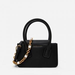 Charles & Keith CK2-20671228 Original Ladies Hand Bag Black Color