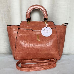 YSL Ladies Hand Bag 2 Piece With Leather Stripe QB00291