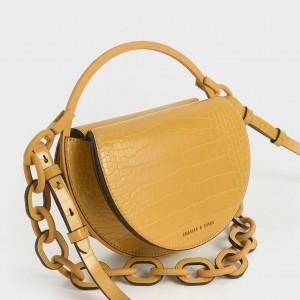 Charles & Keith CK2-70780913 Original Ladies Hand Bag Yellow Color