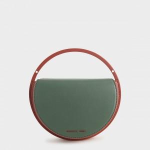 Charles & Keith CK2-70780913 Original Ladies Hand Bag Green Color
