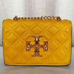 Tory Burch Girls Hand Bag With Long Chain & Stripe Yellow Color QB00258