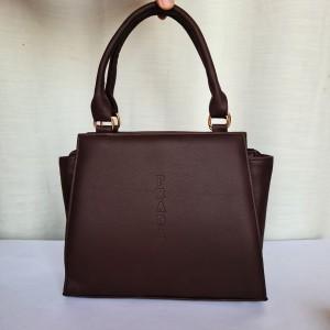 Prada Ladies Hand Bag Brown Color QB00203