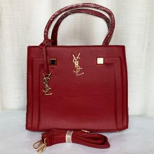YSL Ladies Hand Bag 3 Piece With Leather Stripe QB00295