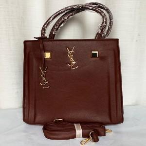 YSL Ladies Hand Bag 3 Piece With Leather Stripe QB00296