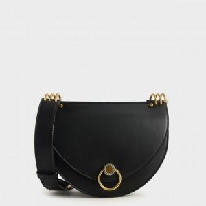 Charles & Keith CK2-80781272 Original Ladies Hand Bag With Leather Stripe