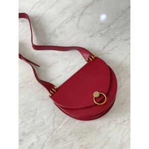 Charles & Keith CK2-80781272 Original Ladies Hand Bag Red Color With Leather Stripe