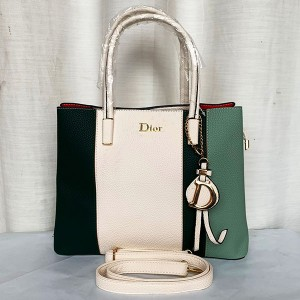 Dior Ladies Hand Bag 2 Piece With Leather Stripe Multi Color QB00298