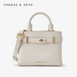 Charles & Keith CK2-30781195 Original Ladies Hand Bag Off White Color