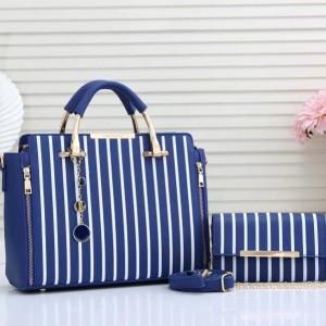 Charles & Keith Ladies Hand Bag 2 Piece Blue Color QB00225