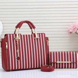 Charles & Keith Ladies Hand Bag 2 Piece Magenta Color QB00226
