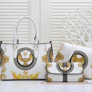 Versace Ladies Hand Bag 3 Piece White Color QB00222