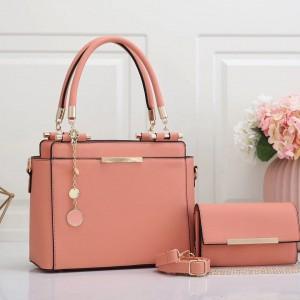 Charles & Keith Ladies Hand Bag 2 Piece Pink Color QB00224
