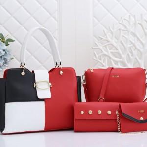 Guess Ladies Hand Bag 4 Piece Multi Color QB00220