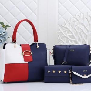 Guess Ladies Hand Bag 4 Piece Multi Color QB00221