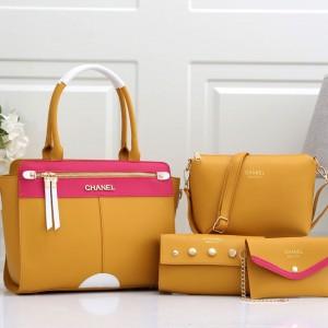 Chanel Ladies Hand Bag 4 Piece Yellow Color QB00219